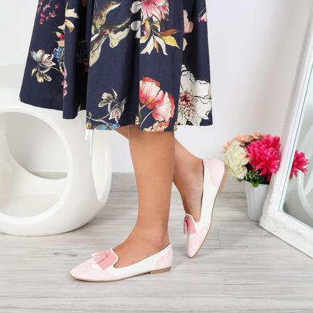 Różowe mokasyny stylizowane Stylisimea- Obuwie