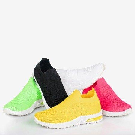 Różowe neonowe sportowe buty damskie typu slip - on Brighta - Obuwie
