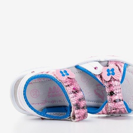 Różowe sandały dziecięce Jamie - Obuwie