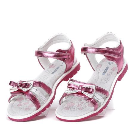 Różowe sandały dziewczęce Linettea - Obuwie