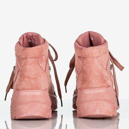 Różowe sportowe buty damskie z wysoką cholewką Paradiso - Obuwie