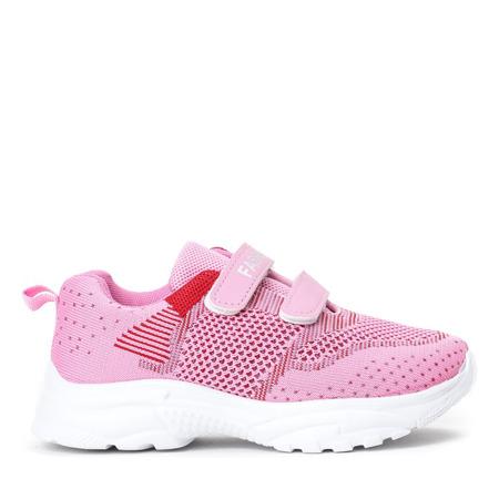 Różowe sportowe dziewczęce buty Violetea - obuwie