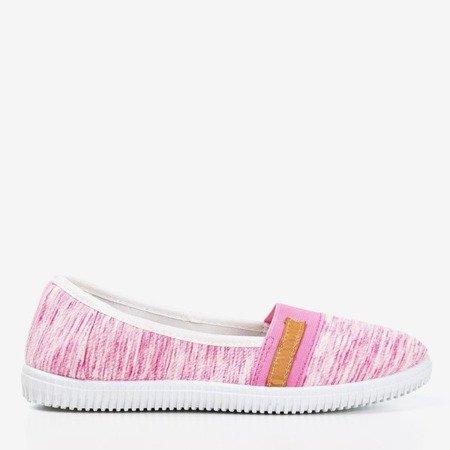 Różowe tenisówki slip - on z paseczkami Arimida - Obuwie