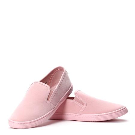 Różowe trampki slip on Frances- Obuwie