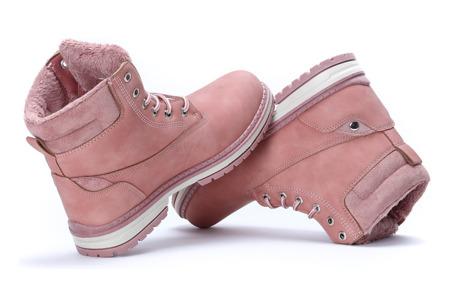 Różowe trapery Vera - Obuwie
