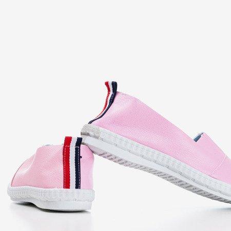 Różowo - fioletowe damskie espadryle Tiulos - Obuwie