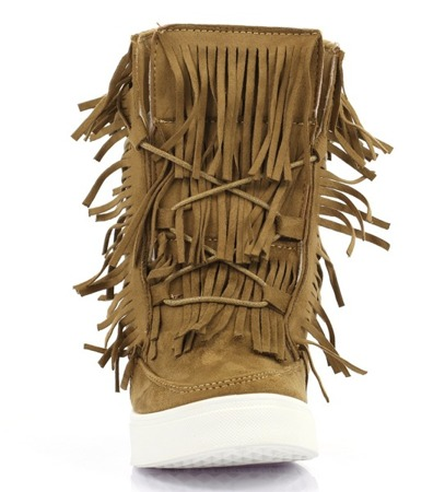 Sneakersy sneakersy z frędzlami na krytym koturnie Kennedy - Obuwie