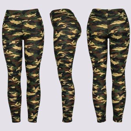 Sportowe legginsy w moro - Spodnie