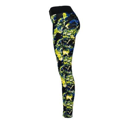 Sportowe legginsy z wielokolorowym printem- Spodnie