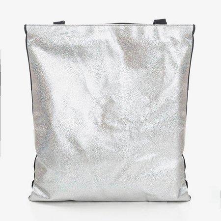 Srebrna torba damska na ramię - Torebki