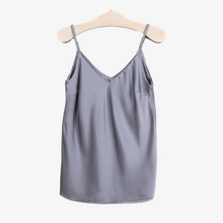 Szara koszulka na ramiączka - Odzież