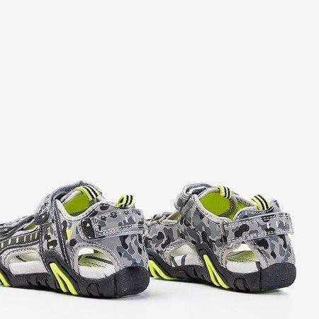 Szare chłopięce sandały moro Berti - Obuwie