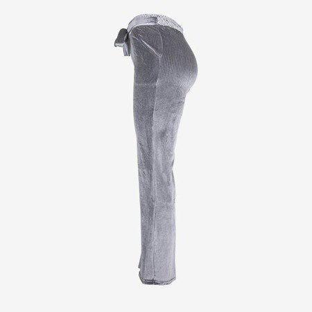 Szare damskie spodnie proste - Spodnie