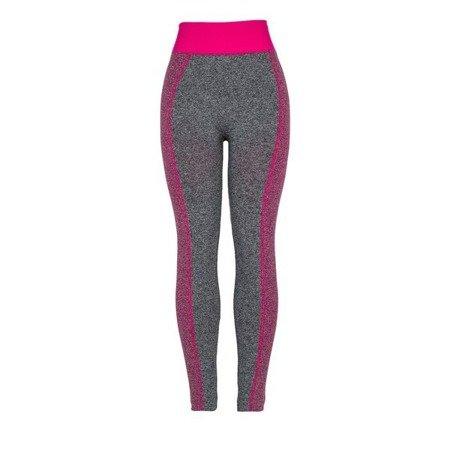 Szare getry z różowymi wstawkami - Spodnie