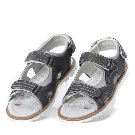 Szare sandały chłopięce Enek - Obuwie