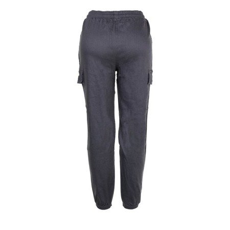 Szare spodnie cargo - Spodnie