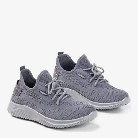 Szare sportowe buty damskie Bigula - Obuwie