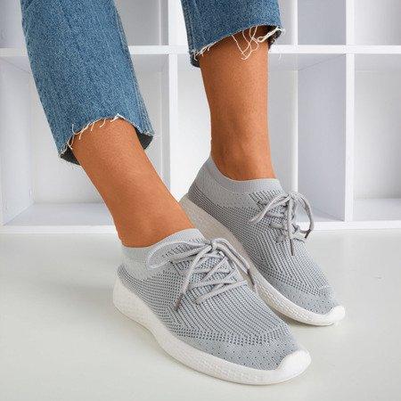Szare sportowe buty damskie Muleq - Obuwie