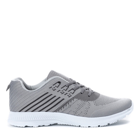 Szare sportowe buty męskie Logon - Obuwie