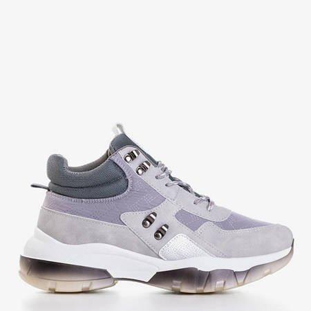 Szare sportowe buty z wysoką cholewką Kirston - Obuwie