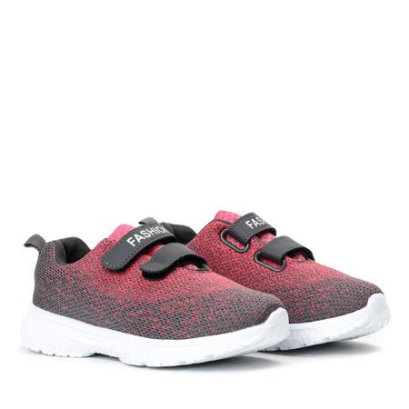 Szaro-różowe dziewczęce buty Nikita - Obuwie