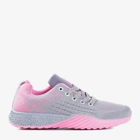 Szaro-różowe sportowe buty damskie Fonto - Obuwie