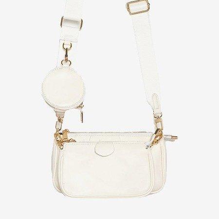 Trzyczęściowa mała torebka damska w kolorze białym - Torebki