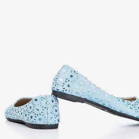 Wzorzyste niebieskie dziewczęce baleriny Dulcibus - Obuwie