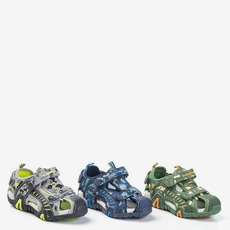 Zielone chłopięce sandały moro Berti - Obuwie