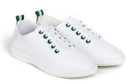 Zielone, sportowe trampki - Obuwie