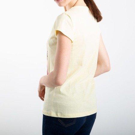Żółta koszulka z krótkim rękawem - Bluzki