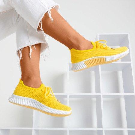 Żółte sportowe buty damskie Nomnela - Obuwie