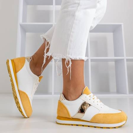 Żółto-białe buty sportowe Arkel - Obuwie