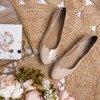 Beżowe baleriny z wycięciem Calascia - Obuwie