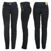 Czarne legginsy damskie PLUS SIZE - Spodnie