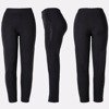 Czarne tregginsy damskie z cyrkoniami - Spodnie
