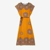 Muszatardowa sukienka w stylu egipskim - Odzież