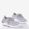 Szare buty sportowe damskie Apolsie - Obuwie