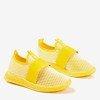 Żółte sportowe buty damskie typu slip - on Andalia - Obuwie